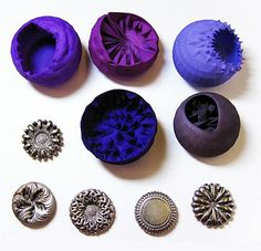 What motivates designer makers to adopt digital technologies? 'Parasite' magnetic brooches by Farah Bandookwala. 3D printed in polyamide (nylon) and stainless steel, dyed. 2010. Photographer: the artist.