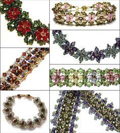 Crystal Bracelets E-Book, Sova Enterprises Beading Patterns Free, Beaded Bracelet Patterns, Beading Tutorials, Jewelry Patterns, Beaded Jewelry, Bead Patterns, Beading Tools, Weaving Patterns, Beading Projects