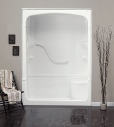 Madison 60-Inch 1-Piece Acrylic Shower Stall with Seat