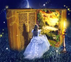 Book to magical world by SummerDreams-Art Fantasy Photography, Book Photography, Fantasy World, Fantasy Art, Enchanted Book, Book Sculpture, World Of Books, Magic Book, Book Aesthetic