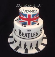 Bolo com tema Beatles