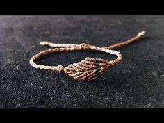 Macrame Tutorial:how to make a macrame bracelet/step by step tutorial/leaf bracelet – Macrame Bracelets Macrame Bracelet Patterns, Macrame Bracelet Tutorial, Macrame Necklace, Macrame Patterns, Macrame Jewelry, Macrame Bracelets, Leaf Necklace, Diy Jewelry, Jewelery