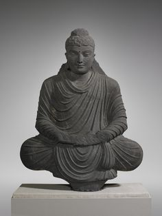 Seated Buddha in Meditation  3rd century C.E. Gray schist. Culture:  Indian, Gandharan. Period:  Kushan period (ca. late 1st?early 4th century). | Copyright © 2015 The Yale University Art Gallery
