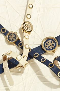Golden Age: Tell time with the new #watches collection by #ToryBurch.