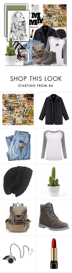 """""""They can imitate you But they can't duplicate you....Newchic"""" by mycherryblossom ❤ liked on Polyvore featuring Maison Margiela, Art for Life, Wrangler, Laundromat, Timberland and Lancôme"""