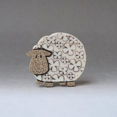 Sheep brooch ...Baaaa.... handmade by RuthRobinsonCeramics on Etsy, $20.00