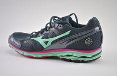 ba41c2f7f4e Mizuno Wave Rider 17 Womens Running Shoes Size Us 11 Eu 42.5 Gray Aqua Blue