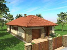 Egyszintes családi ház 155 m2 Small House Layout, Small House Design, House Layouts, Japanese Interior Design, Home Design Plans, My Dream Home, Gazebo, Entrance, House Plans