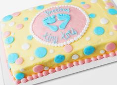 Simple Baby Shower Cake Designs Walmart   Baby Shower Cakes   Celebrations  Center
