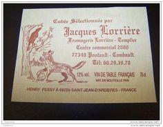 Etiquette Vin Chasse Chasseur Wine Label Fables Jean De La Fontaine Renard Corbeau Crow Fox 69220 - Chasse