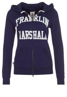 Franklin   Marshall Sweat zippé bleu 986f248e3c0