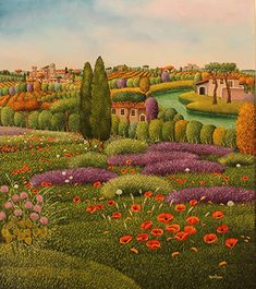 Tuscan Spring by Cesare Marchesini - GINA Gallery of International Naive Art