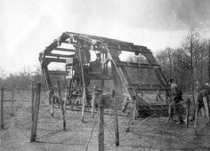 French trench corsser, the 'Machine Boirault', 1915..