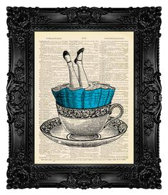 Alice in Wonderland Print Alice Dictionary by MadameBricolagePrint, $10.00