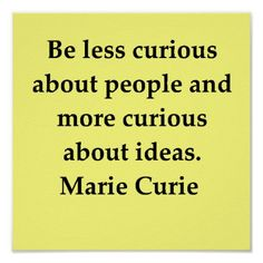 madam marie curie quote poster | Zazzle
