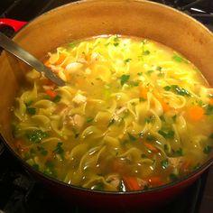 Ina Garten's chicken noodle soup. My favorite!