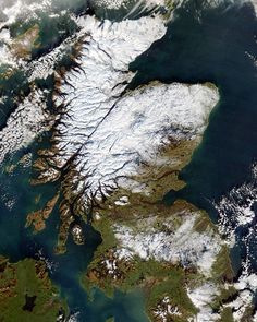 Scotland from space.