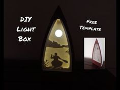 Işık Kutusu Yapımı / DIY Paper Light Box- Free Template #shadowlightbox #lightbox #paperligtbox Surfboard, Templates, Diy, Free, Paper Board, Stencils, Bricolage, Surfboards, Vorlage