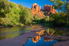 2.25 hrs. Red Rock State Park amed for its red sandstone formations, which gives the park its name, Red Rock is the home of giants, such as: Cathedral Rock and Oak Creek Canyon, that both stand as testament to the dramatic natural beauty of life in Arizona.