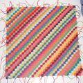 Vous le réclamiez, le voilà : en exclu pour vous, le tuto du carré diagonales en crochet : (For the English translation go here (clic clic)...