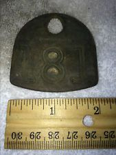 ANTIQUE BRASS COW TAG NUMBER 181 VINTAGE DAIRY FARM BARN FRESH UNCLEANED FIND