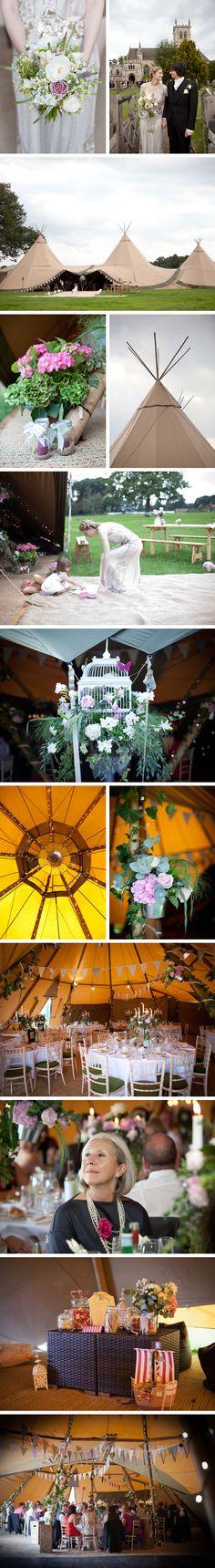 Wedding Tents & Teepees - Charlotte & Jamie   PapaKåta