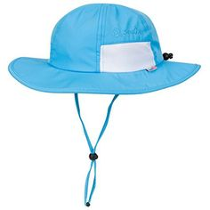 SwimZip Unisex Child Wide Brim Sun Protection Hat UPF 50 Adjustable Aqua 0-6 Month