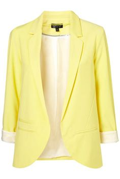 Love this yellow blazer from TopShop- much cheaper than the E option