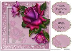 Gorgeous Twilight Roses 8x8 Quick Topper on Craftsuprint - Add To Basket!