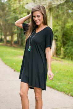 Take Me T-Shirt Dress, Black