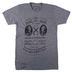 "Declaration Clothing ""The Duel"" Alexander Hamilton vs. Aaron Burr Tee Shirt, Size XX-Large, $28 via DeclarationClothing.Com"