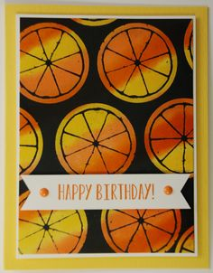Happy Birthday - Joseph's Coat by stampinrachel - Cards and Paper Crafts at Splitcoaststampers Stamp A Stack, Ink Pads, Cool Cards, Daffodils, Stampin Up Cards, I Card, Card Stock, Lemon, Happy Birthday
