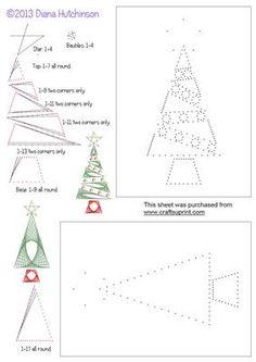 designed by Diana Hutchinson Karte Weihnachten Christbaum Faden