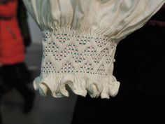 Fabric Manipulation Techniques, Folk Costume, Embroidery Techniques, Fashion Details, Smocking, Needlework, Traditional, Blanket, Sewing