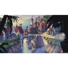 The Little Mermaid Wallpaper - Disney Desktop Wallpaper - Disney's... ❤ liked on Polyvore