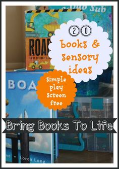 20 books and sensory play ideas