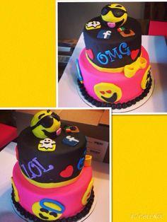 Emoji Cake Pretty Cakes, Beautiful Cakes, Amazing Cakes, Diy Birthday Cake, 13th Birthday, Birthday Ideas, Emoji Cake, Cupcake Cookies, Cupcakes