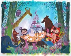 Tea Party by Joey Chou. I love his artwork
