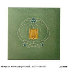 AN030 Art Nouveau Reproduction Antique Tile