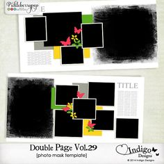 Double Page Templates with Mask Vol.29 by Indigo Designs