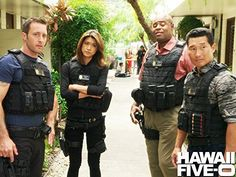 Daniel Dae Kim, Chi McBride, Grace Park, and Alex O'Loughlin in Hawaii Hawaii Five O, Hawaii 5 0 Cast, Love You Babe, Why I Love You, River Pictures, Grace Park, Dream Live, Chicago Med, Three Rivers