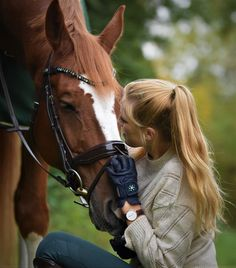 Chestnut horse with MagicTack browband equestrian girl with blond hair and MagicTack riding gloves Equestrian Girls, Chestnut Horse, Horse Girl, These Girls, Tack, Blonde Hair, Pony, Gloves, Magic