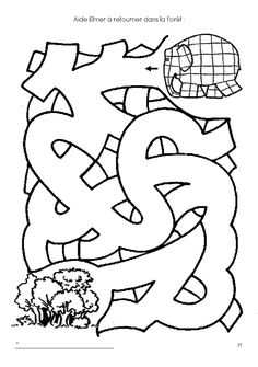 Télécharger les jeux d'eveil Elmer gratuitement Library Activities, Book Activities, Preschool Activities, Elmer The Elephants, Early Finishers Activities, Mazes For Kids, Cool Coloring Pages, Beginning Of The School Year, Pre Writing