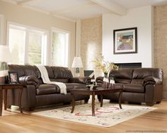 decor ideas for living room with brown leather furniture