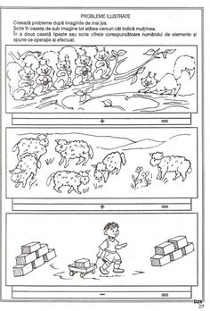57 atividades de matemática para sala de aula - Como Fazer Number Bonds, Three Little Pigs, Emergent Readers, Sheet Music, Kindergarten, School, Math Activities, Diy Home, Diy Creative Ideas