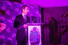 José Manuel Bilbao. Director Territorial de CaixaBank en Castilla y León y Asturias durante el discurso institucional.