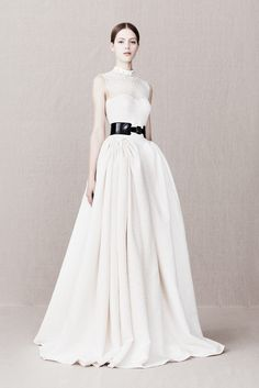 Alexander McQueen Pre-Fall 2013. Would be a beautiful wedding dress or red carpet dress in a different color.