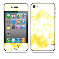 Yellow Crystal iPhone skin by TAJTr