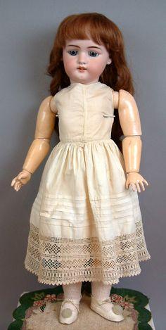 """23.5"""" Simon & Halbig 1079 Antique Child Doll In Superb Antique Costume!"""