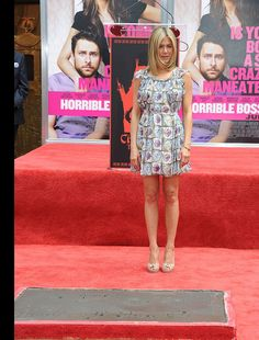 Jennifer Aniston Photos - Actress Jennifer Aniston is honored with a Hand and Footprint Ceremony outside Grauman's Chinese Theatre on July 2011 in Hollywood,California - Jennifer Aniston Hand and Footprint Ceremony Hollywood California, In Hollywood, Jennifer Aniston Photos, Footprint, Theatre, July 7, Actresses, Beautiful Celebrities, Chinese